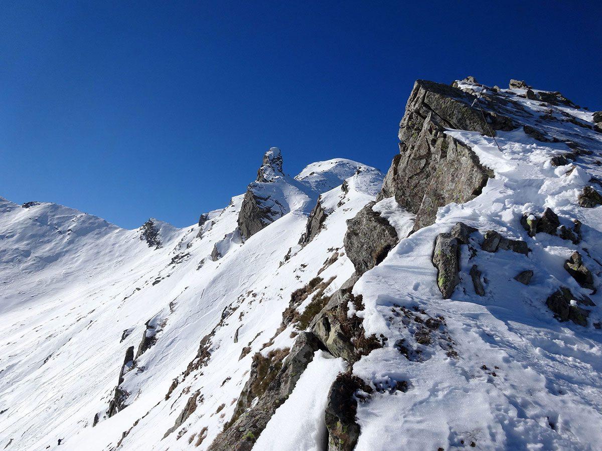 La cresta dal Passo di Pietratagliata