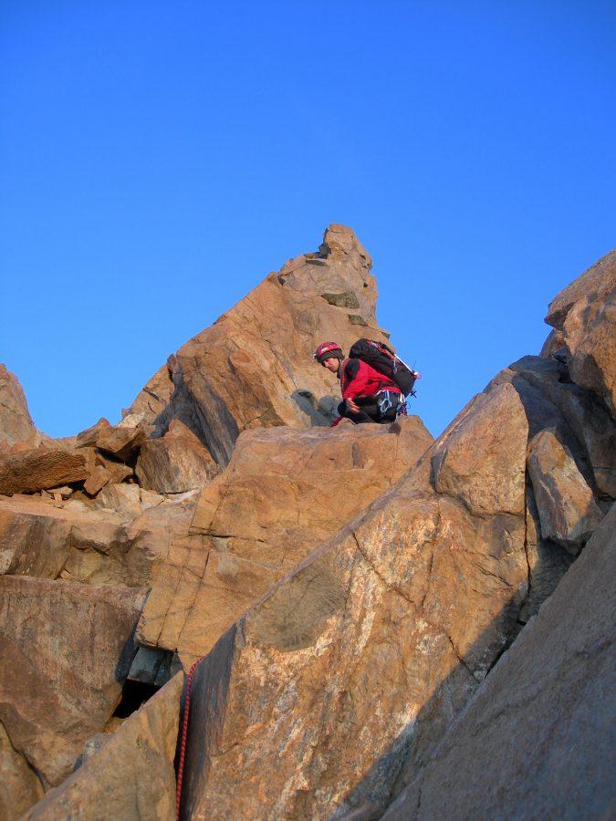 Divertente arrampicata su ottima roccia
