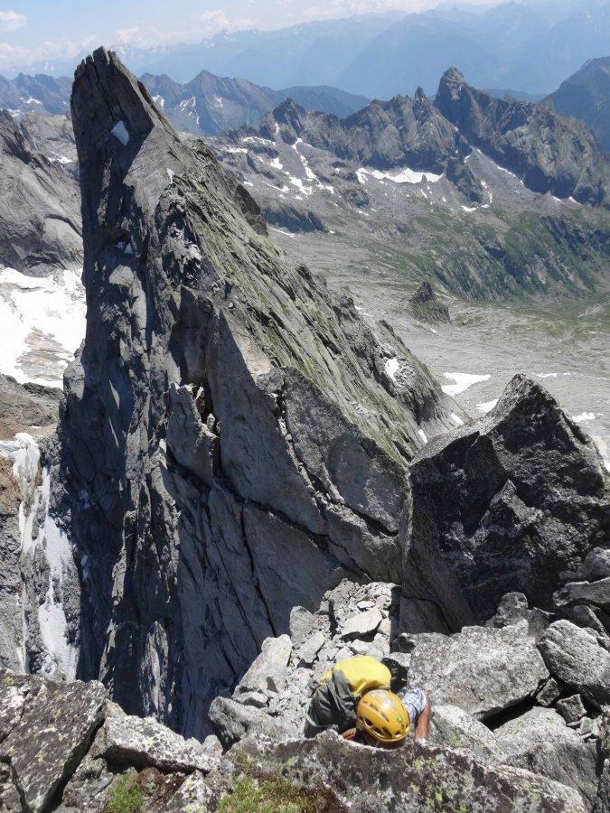 Pizzo Badile - Cresta-Est: 3°tiro