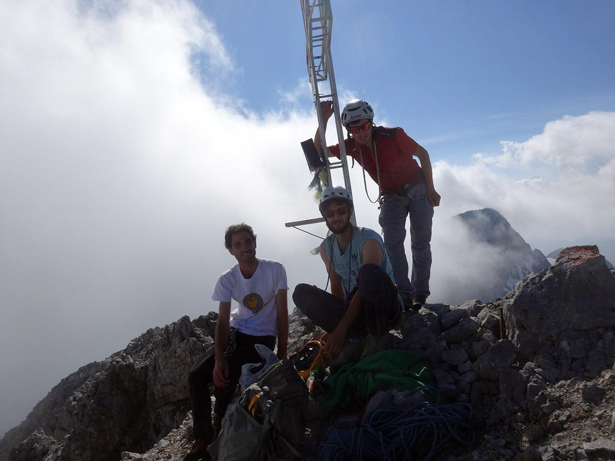Cima: Alberto, Federico, Luca