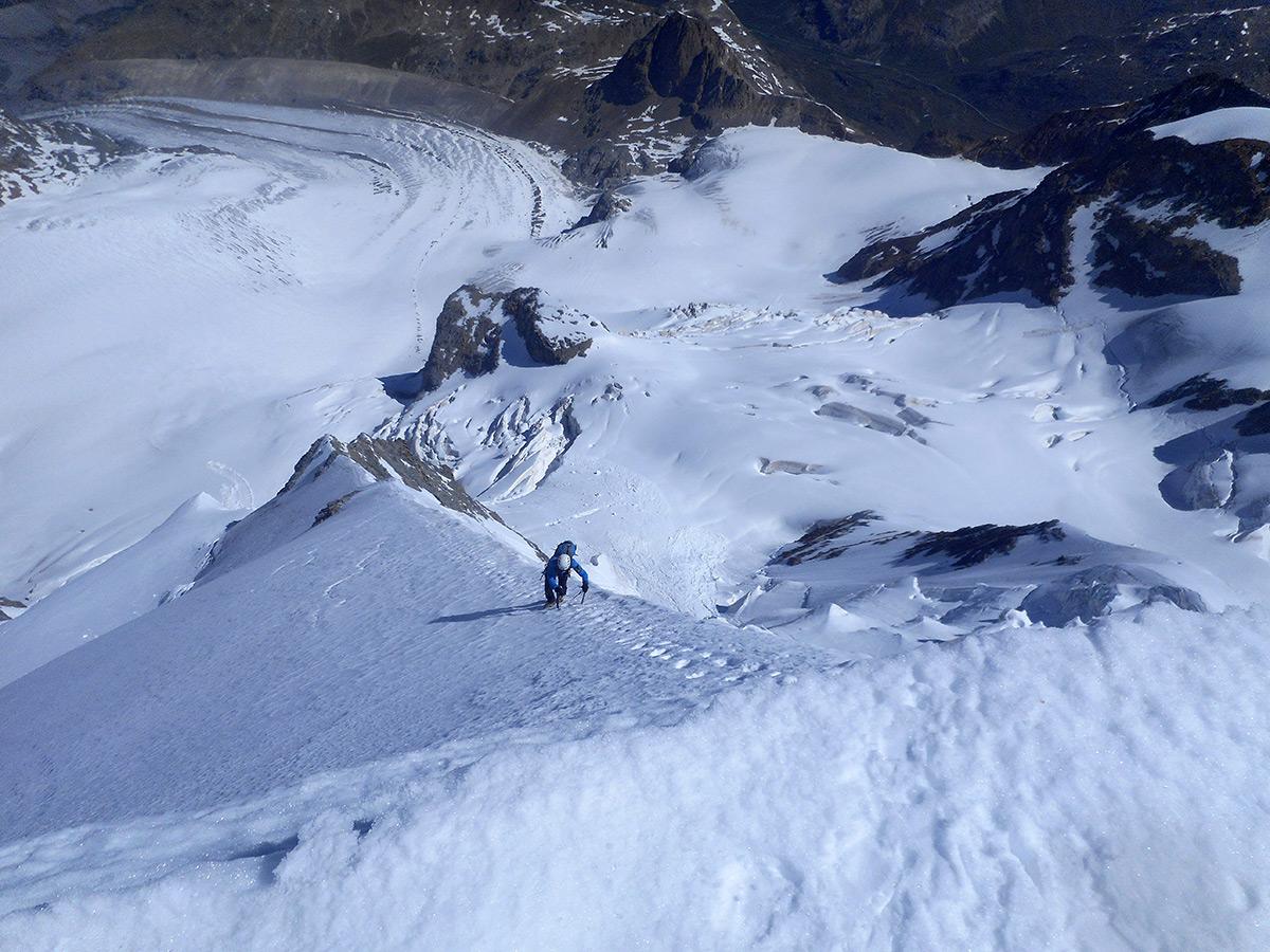 La cresta nevosa finale