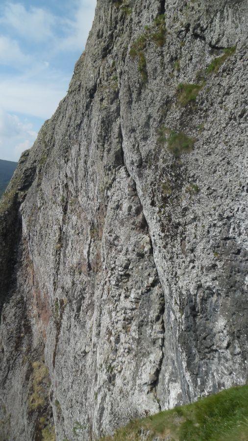 La bella linea di Doppio Rhum vista dalla cima della Candela