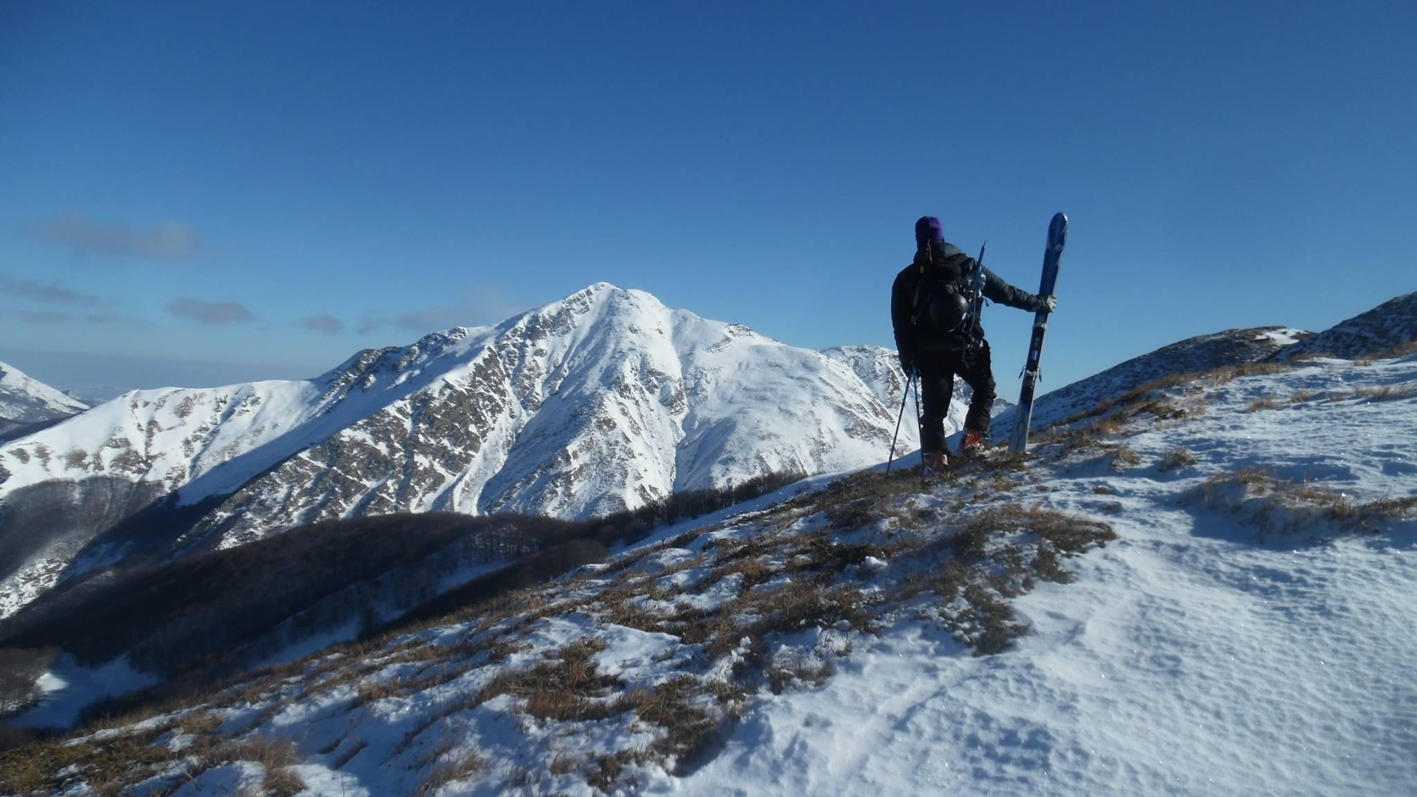 Vista sulla Ovest dell'Alpe di Succiso