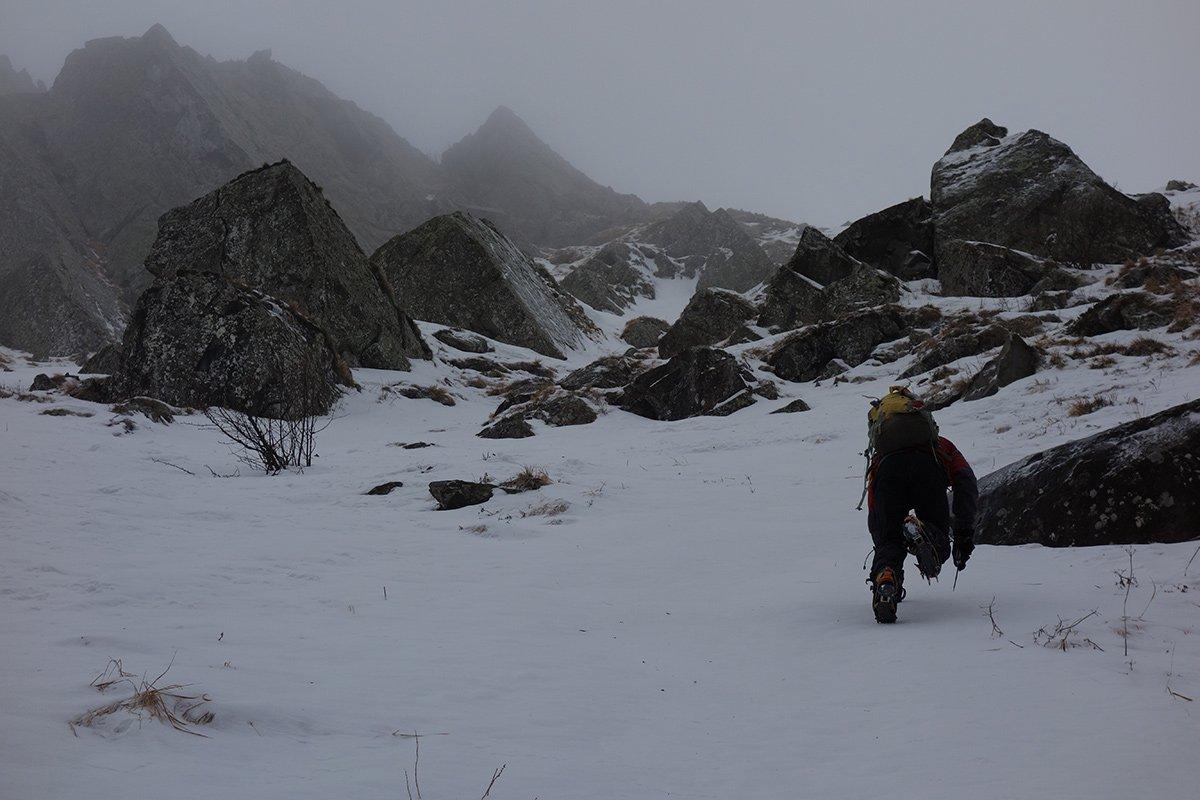Ottima neve dura sullo scivolo