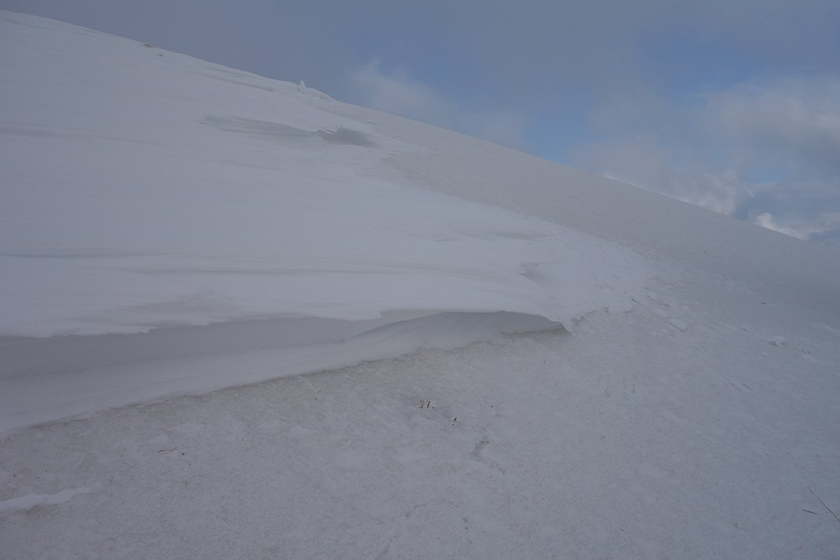 Neve ocra (dura), neve bianca fresca e ventata
