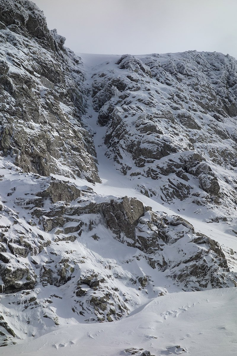 Canalino dello Scala, pieno di neve (14/02/2018)