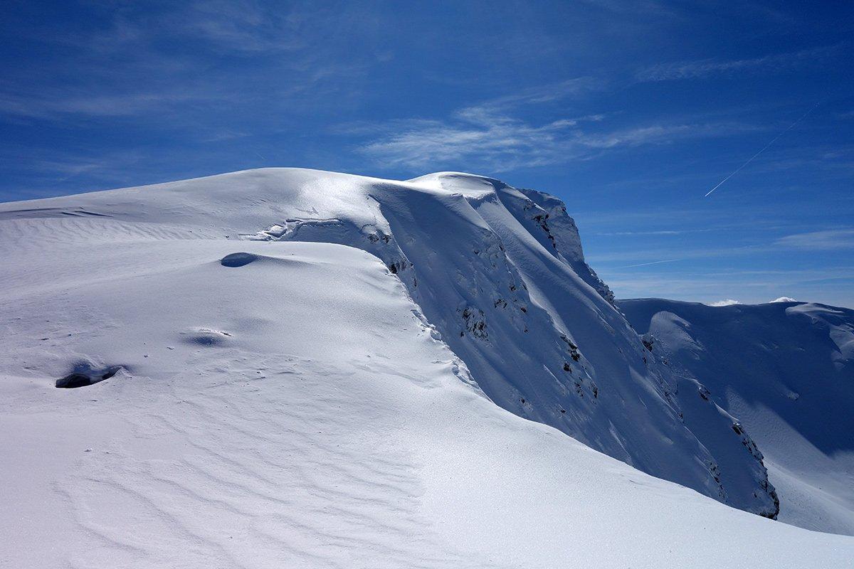 La cresta verso la cima della Nuda