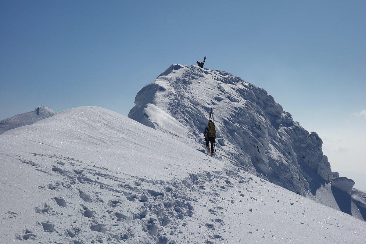 Sulla cresta nei pressi della cima dell'Altaretto