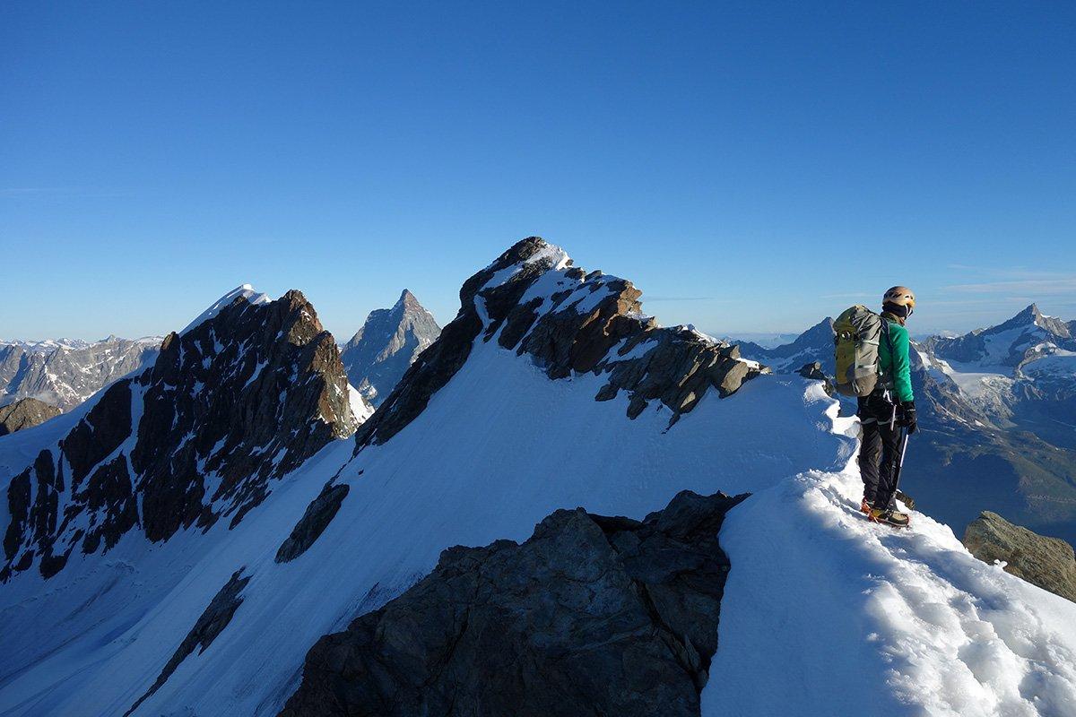 La cresta finale del gemello del Breithorn