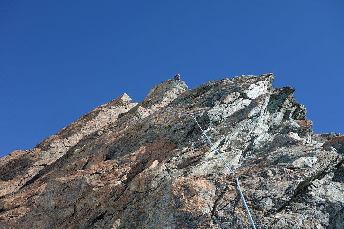 Il tratto roccioso più impegnativo